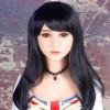 #14 Long Fringed Black Hair