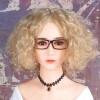 #15 Medium No-Fringe Curly Blonde Hair